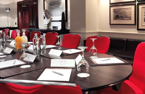 The stylish Bridge Suite meeting room at the London Bridge hotel