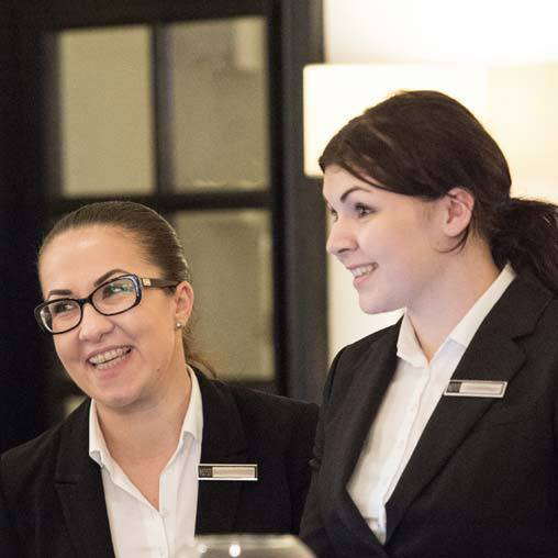 Receptionists at the London Bridge Hotel