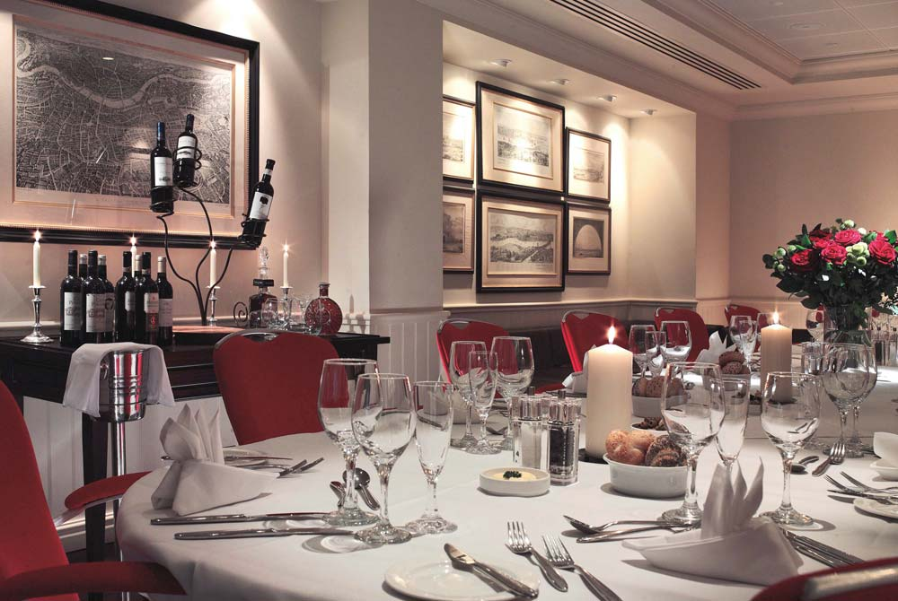 Private dining in the Bridge Suite