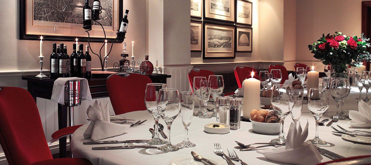 Exquisite private dining in the Bridge Suite